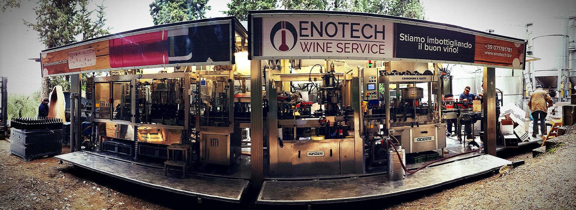 Enotech imbottigliamento mobile a domicilio